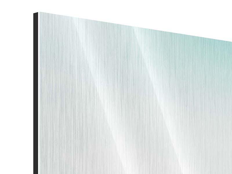 Metallic-Bild 3-teilig modern Das Wattenmeer