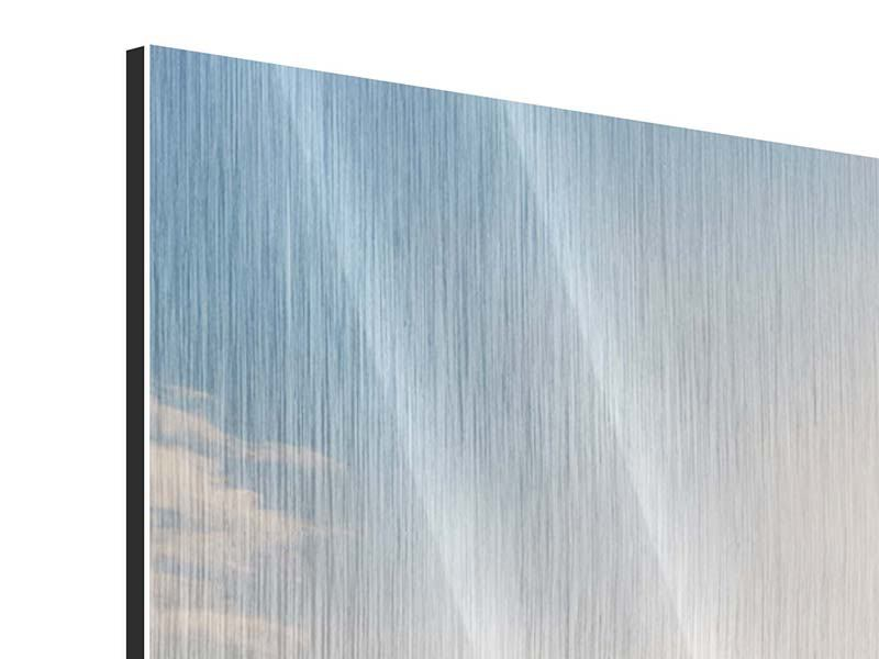 Metallic-Bild 3-teilig modern Eislandschaft
