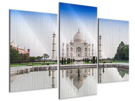 Metallic-Bild 3-teilig modern Taj Mahal