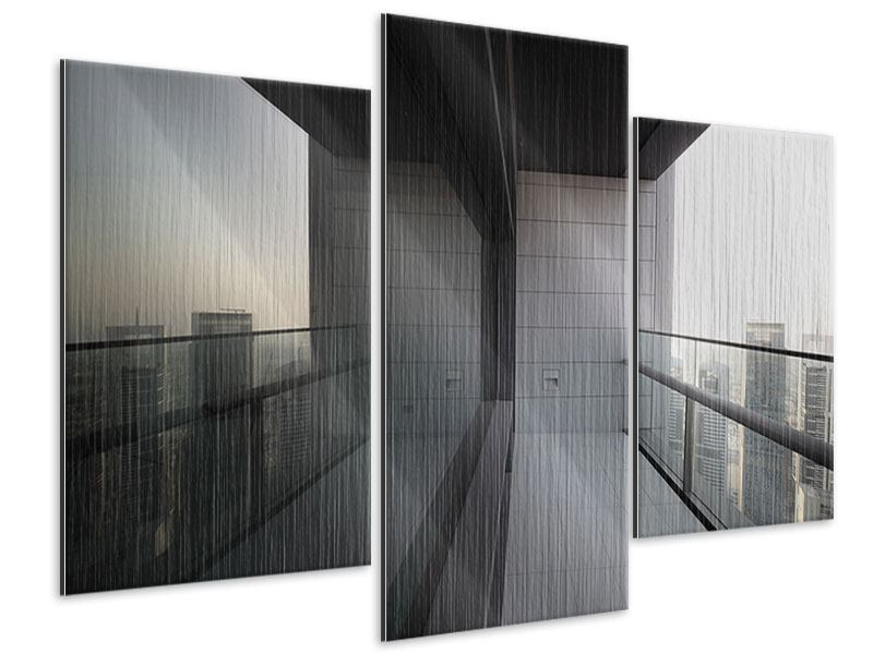 Metallic-Bild 3-teilig modern Balkon in Dubai