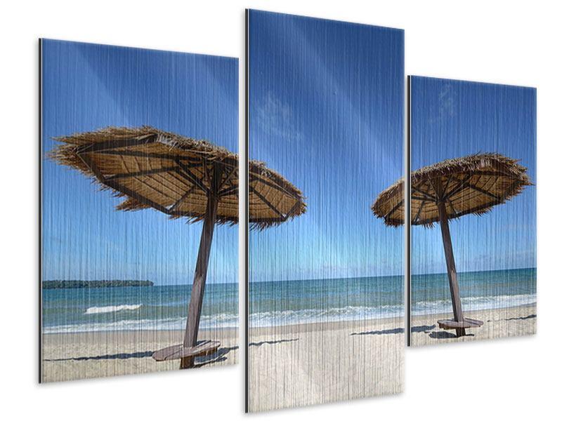 Metallic-Bild 3-teilig modern Umbrellas