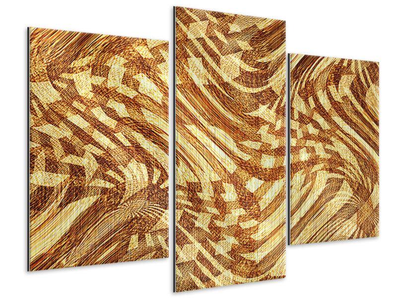 Metallic-Bild 3-teilig modern Retroperspektive