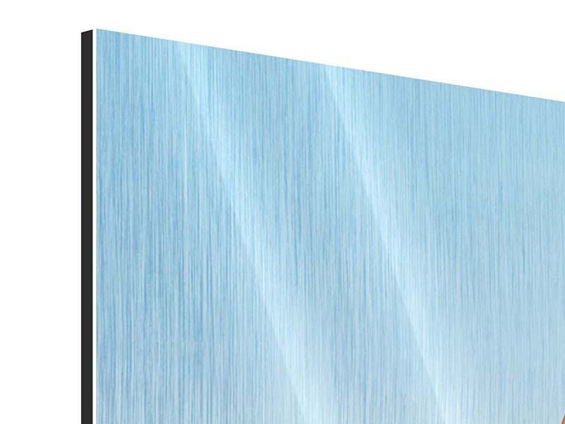 Metallic-Bild 3-teilig modern Brückenpanorama