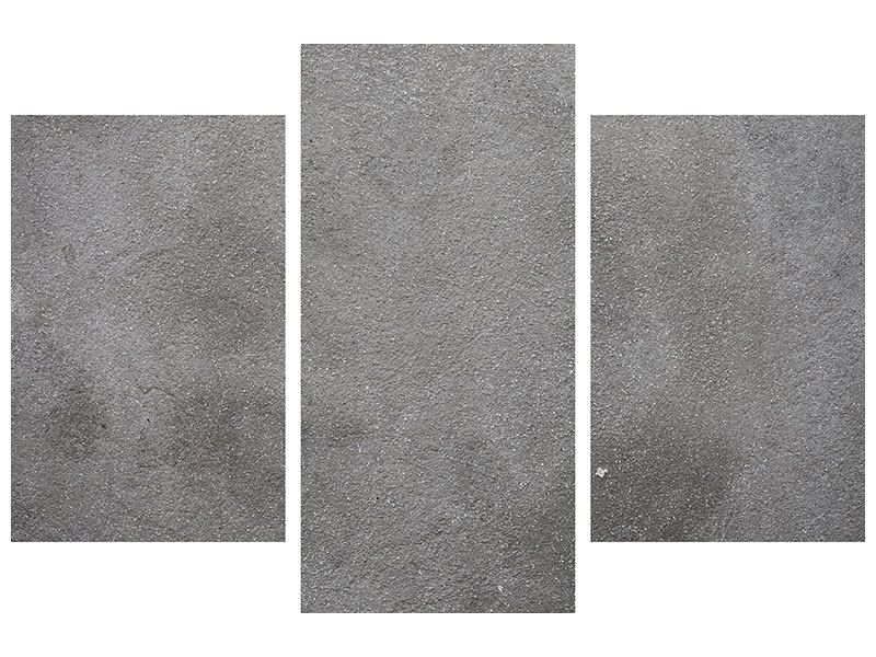 Metallic-Bild 3-teilig modern Beton in Dunkelgrau