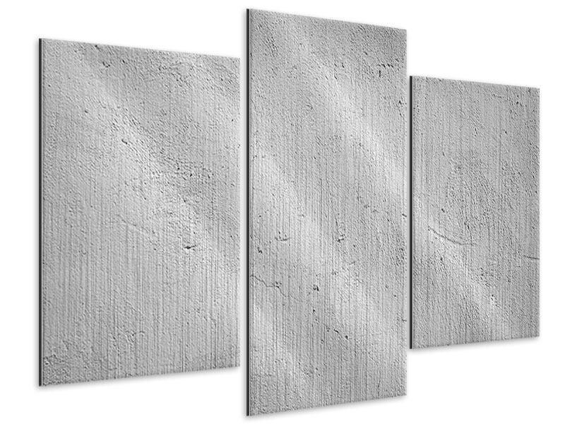 Metallic-Bild 3-teilig modern Beton