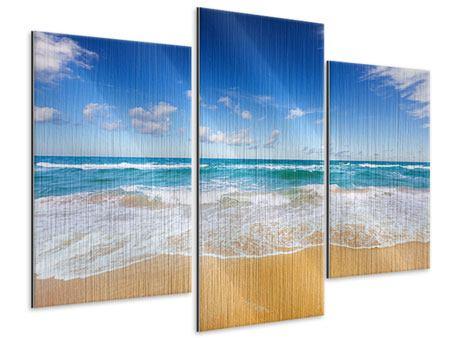 Metallic-Bild 3-teilig modern Die Gezeiten und das Meer