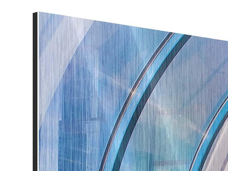 Metallic-Bild 3-teilig modern Hypermoderne Brücke