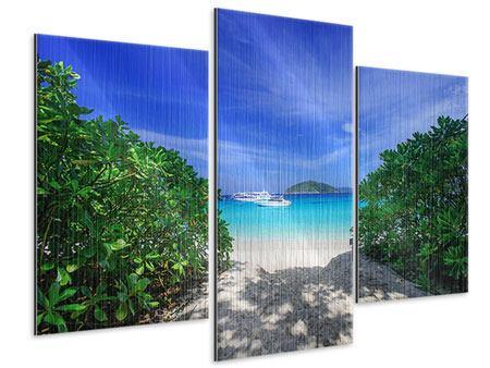 Metallic-Bild 3-teilig modern Similan-Inseln