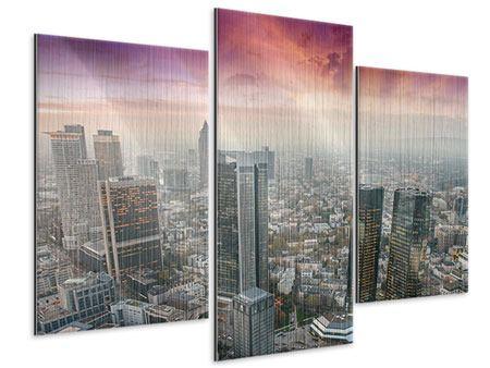 Metallic-Bild 3-teilig modern Skyline Penthouse in New York