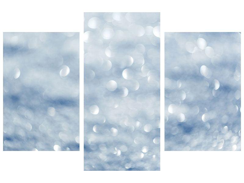 Metallic-Bild 3-teilig modern Kristallglanz
