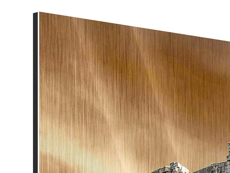 Metallic-Bild 3-teilig modern Kolosseum Rom