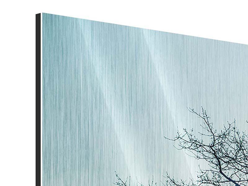 Metallic-Bild 3-teilig modern Der Zauberbaum