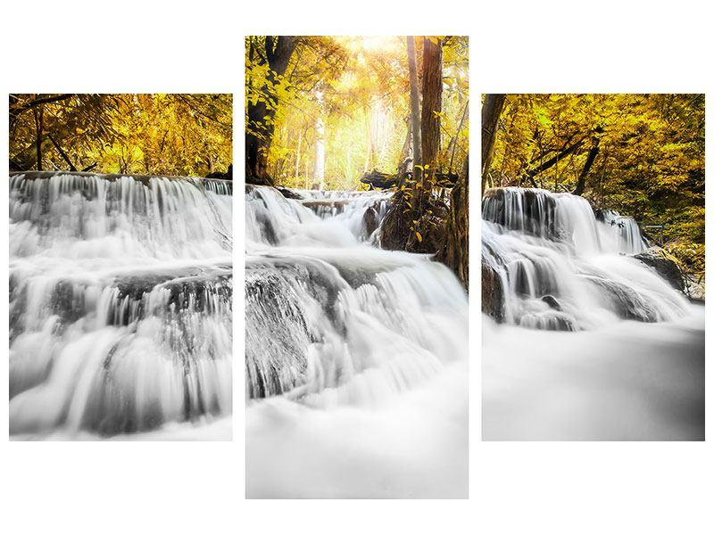 Metallic-Bild 3-teilig modern Wasser in Aktion