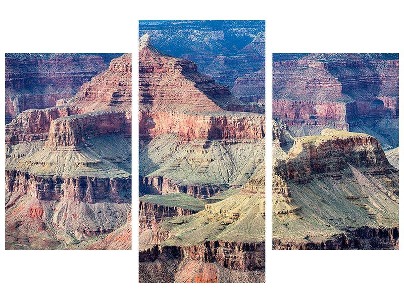 Metallic-Bild 3-teilig modern Gran Canyon