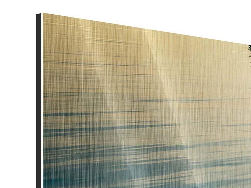 Metallic-Bild 3-teilig modern Der Weg ist das Ziel
