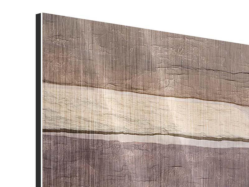 Metallic-Bild 3-teilig modern Designer-Mauer