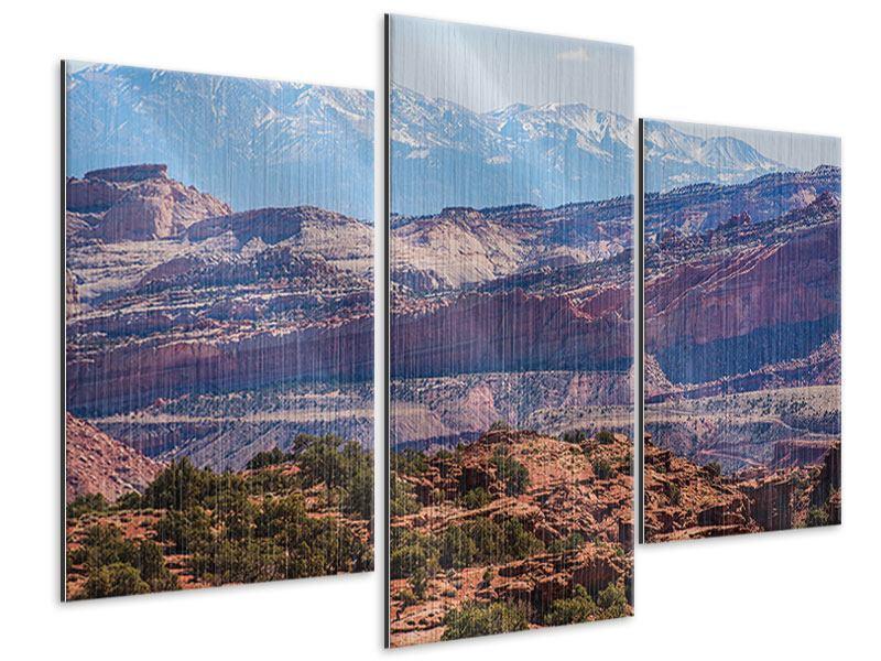 Metallic-Bild 3-teilig modern Bruce-Canyon-Nationalpark