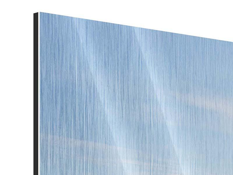 Metallic-Bild 3-teilig modern Hafenmauern