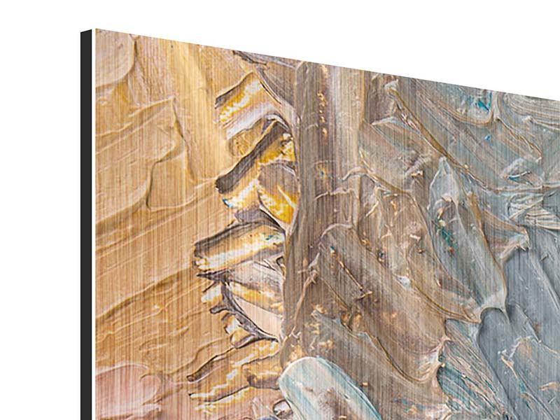 Metallic-Bild 4-teilig modern Ölgemälde