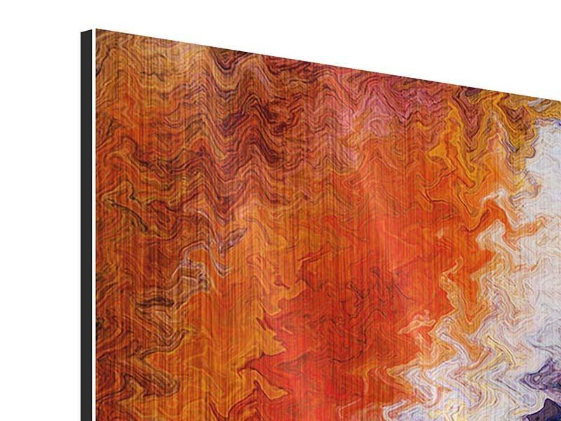 Metallic-Bild 4-teilig modern Wandmalerei