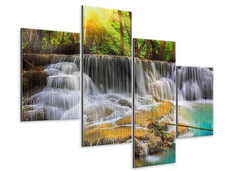 Metallic-Bild 4-teilig modern Nationalpark Si Nakharin