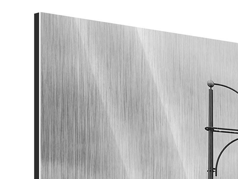 Metallic-Bild 4-teilig modern Poetische Brücke