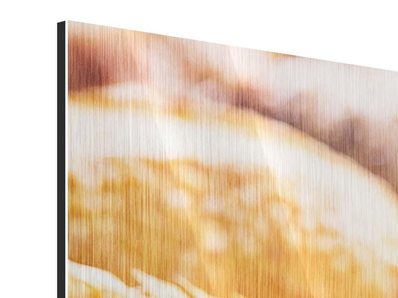 Metallic-Bild 4-teilig modern Brötchen
