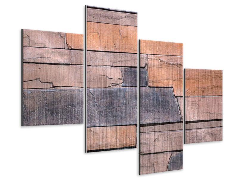 Metallic-Bild 4-teilig modern Wall