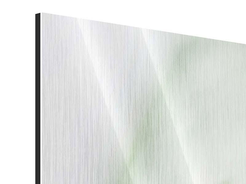 Metallic-Bild 4-teilig modern XXL Pastinak