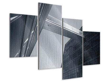 Metallic-Bild 4-teilig modern Der schwarze Diamant Kopenhagens