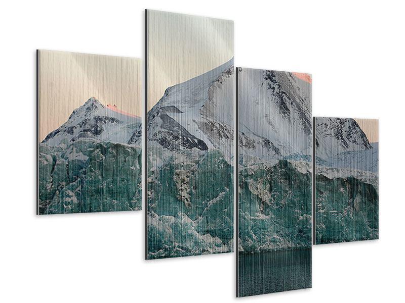 Metallic-Bild 4-teilig modern Die Antarktis