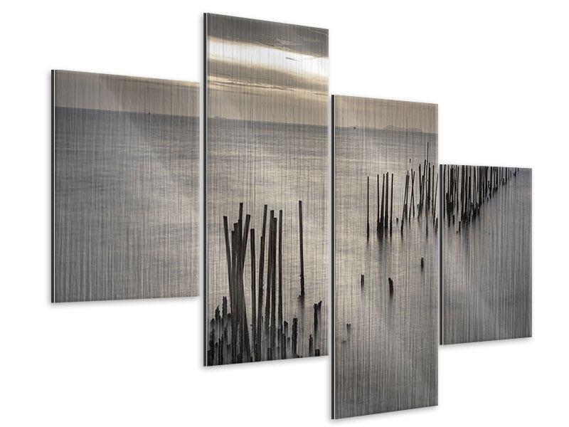 Metallic-Bild 4-teilig modern Das Meer und die Träne