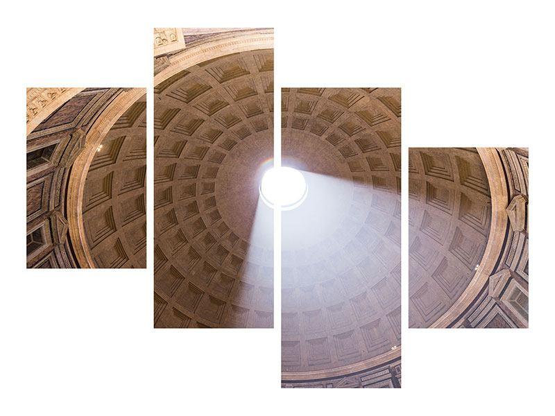 Metallic-Bild 4-teilig modern Petersdom