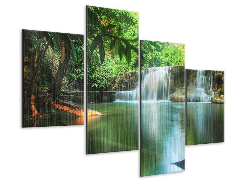 Metallic-Bild 4-teilig modern Element Wasser