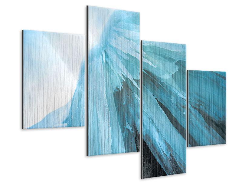 Metallic-Bild 4-teilig modern Die Eiswand