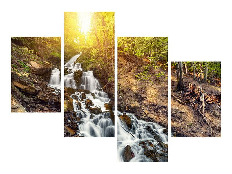 Metallic-Bild 4-teilig modern Naturschönheit