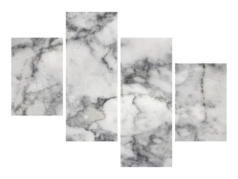 Metallic-Bild 4-teilig modern Klassischer Marmor