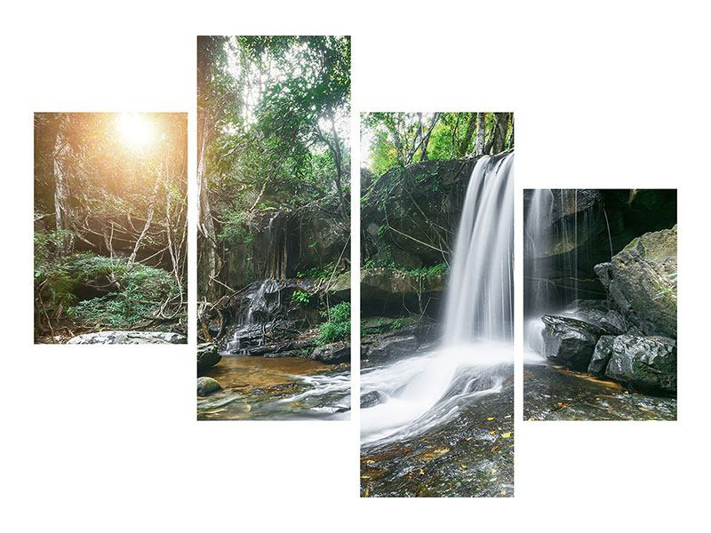 Metallic-Bild 4-teilig modern Naturschauspiel