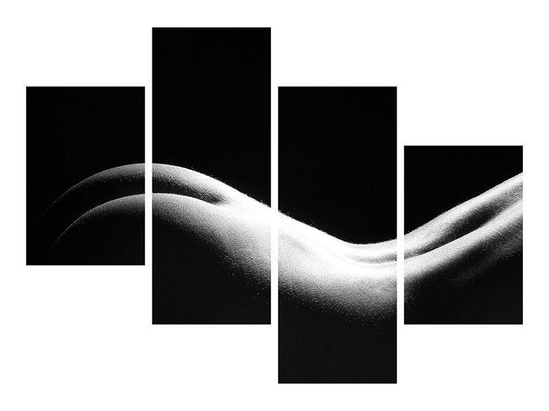 Metallic-Bild 4-teilig modern Nude