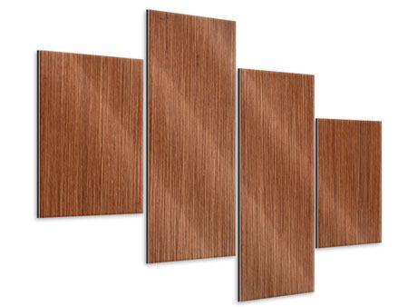 Metallic-Bild 4-teilig modern Ulme