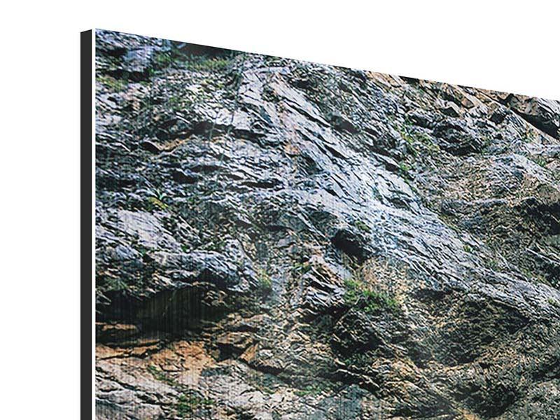 Metallic-Bild 4-teilig modern Bewegtes Wasser