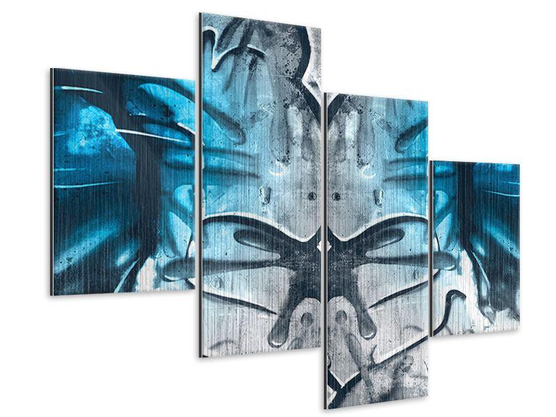Metallic-Bild 4-teilig modern Painting On The Wall