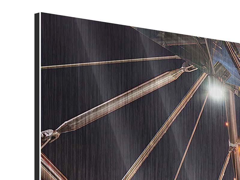 Metallic-Bild 4-teilig modern Brückenlichter