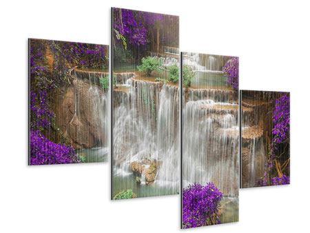 Metallic-Bild 4-teilig modern Garten Eden