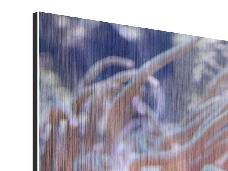Metallic-Bild 4-teilig modern Korallenriff