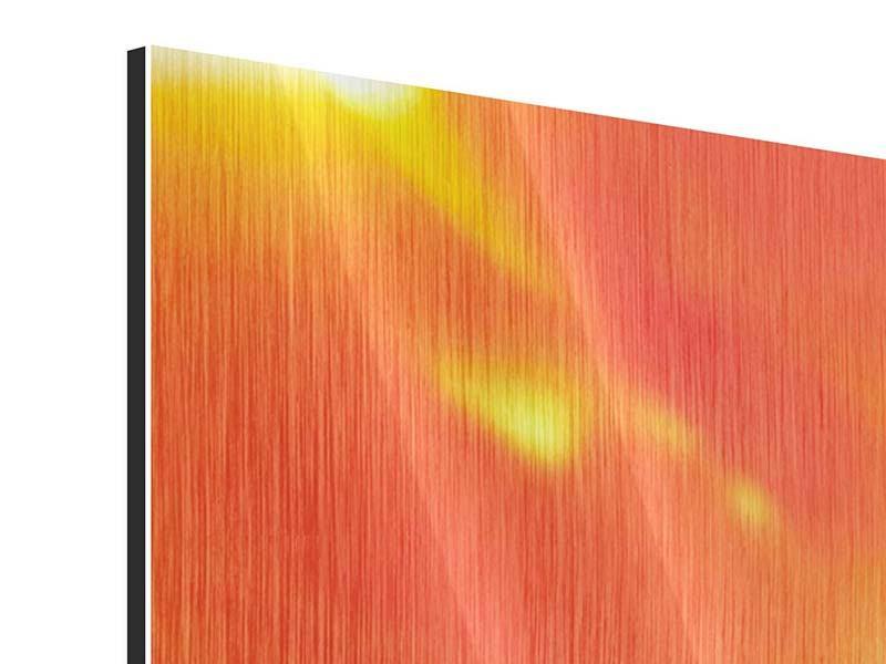 Metallic-Bild 4-teilig modern Die Narbe einer Tulpe XXL