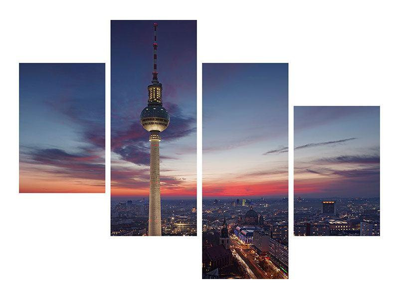 Metallic-Bild 4-teilig modern Berlin