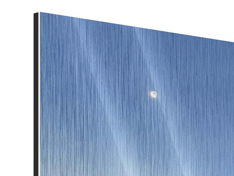 Metallic-Bild 4-teilig modern Skyline Sydney in der Abenddämmerung