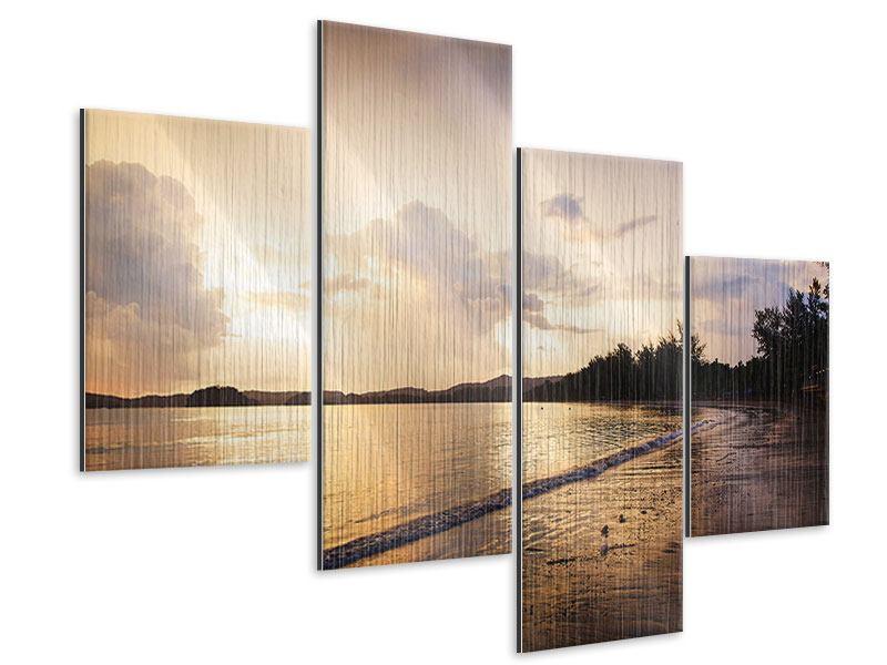 Metallic-Bild 4-teilig modern Das Ufer