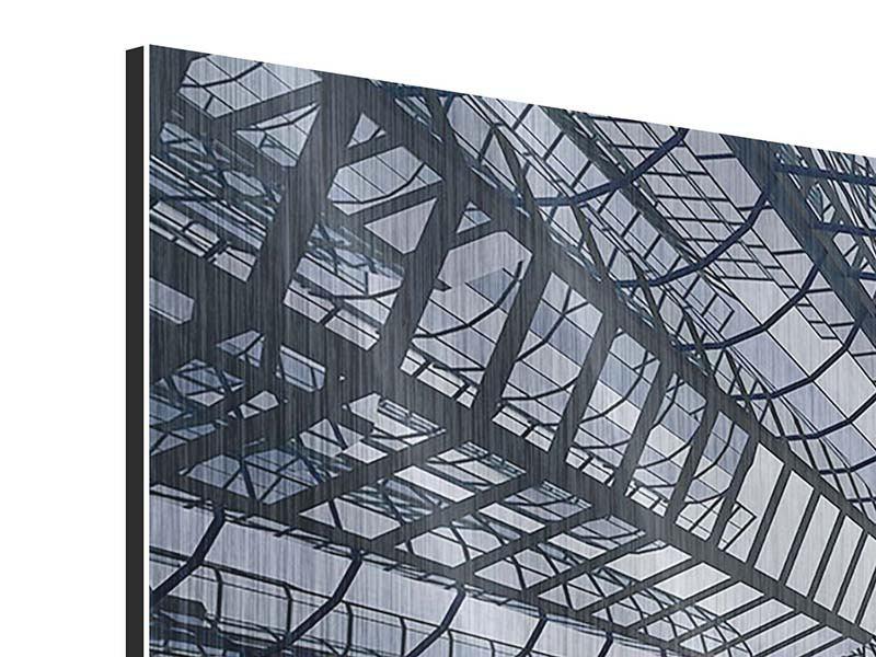Metallic-Bild 4-teilig modern Besondere Perspektive